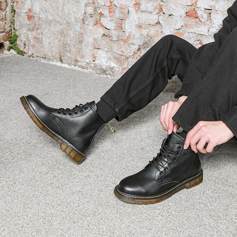 红蜻蜓 男式真皮马丁靴 聚划算多重优惠折后¥159包邮 多款可选