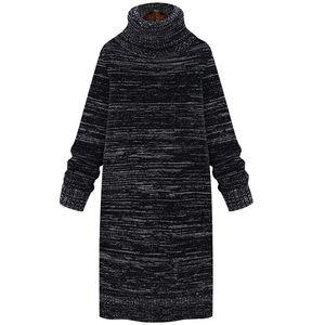 高领毛衣加绒加厚冬女韩版中长款宽松保暖2020新款高领针织打底衫