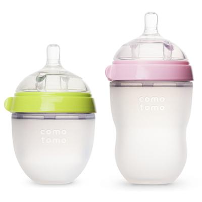 【宝妈优选】正品硅胶防胀气奶瓶2个